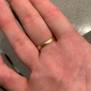 Jewelry - Men's 14k gold wedding band ring diamonds
